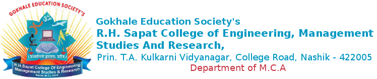 R. H. Sapat College Of Engineering, Management Studies And Research   M.C.A.